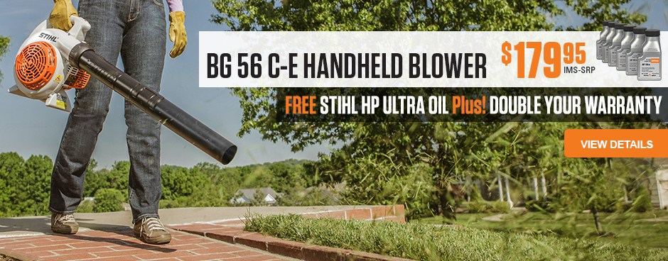 Free HP Ultra Oil with BG 56 C-E Handheld Blower!
